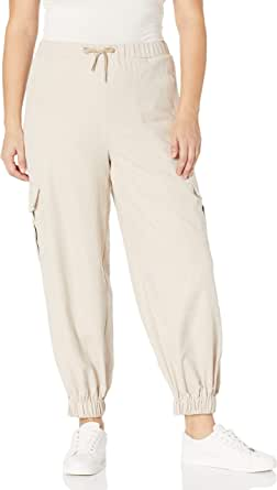 KENDALL + KYLIE 女式绒面实用工装慢跑裤