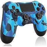 GOLDJU PS4 无线控制器,游戏手柄控制器兼容 PS4/PS4 Slim/PS4 Pro(蓝色迷彩)