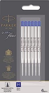 PARKER 派克 QUINKflow圆珠笔笔芯,中号笔尖,蓝色,6件超值装