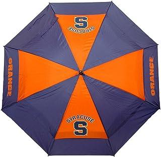Team Golf NCAA 雪城橙色 62 英寸(约 157.5 厘米)高尔夫伞,带保护套,双伞蓬防风设计,自动打开按钮