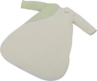 PurFlo Sleepsac 婴儿睡袋,棉质包裹衣,2.5 Tog Moss,绿色斑点和条纹,适合0-3个月的宝宝