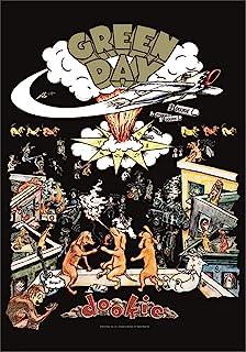 Heart Rock Original Flag Green Day Dookie,织物,多色,110 x 75 x 0.1 cm