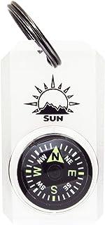 MiniComp - Zipperpull 迷你指南针,带分叉环 | 易于读取的指南针,适用于夹克、大衣或包