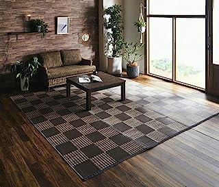 IKEHIKO 池彦和室 地毯 个人款 酒间1叠 约十三平方米 约95厘米x 191厘米 棕色 日本制造 可洗 #2117011