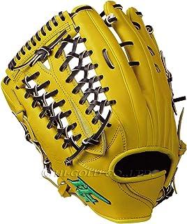 硬式棒球手套 技术极系列 外野手用手套 自然黄×黑色 左投