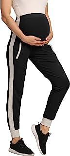 V VOCNI 孕妇裤条纹侧慢跑裤女式休闲健身瑜伽运动裤 休闲裤