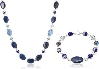 [VENDOME BOUTIQUE] VENDOME BOUTIQUE 天然石 青金石 玛瑙蓝 项链 手链 2way VBRN705465LL