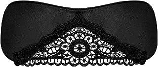 Obsessive 缎面面具,带蕾丝/黑色缎带,均码
