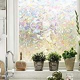 MAGGIFT 3D 窗膜隐私保护膜静电装饰膜,不粘合剂,热控制和防紫外线,17.7 英寸。 X 78.7英寸(约198…