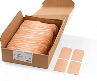 HERMA 6018 挂单 价格标签 大号(60 x 113 毫米 纸板,斜角)礼品标签 / 塑料孔眼的悬挂标签 1000 个纸拖车 棕色