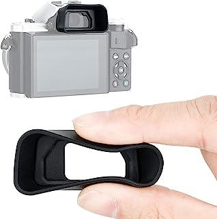JJC KIWIFOTOS 人体工程学长相机眼罩适用于 Olympus 奥林巴斯 E-M5 Mark III/E-M10 Mark III/E-M10 Mark II/E-M5 Mark II,眼杯眼片取景器替代奥林巴斯 EP-16 EP-1...