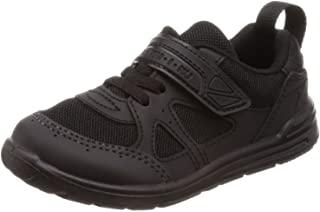 Syunsoku 瞬足 运动鞋 学生鞋 瞬足 脚部成长 室内鞋 外穿 日本制造 15~25厘米 2E 儿童 黑色/黑色 18.5 cm 2E