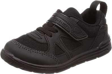 Syunsoku 瞬足 运动鞋 学生鞋 瞬足 脚部成长 室内鞋 外穿 日本制造 15~25厘米 2E 儿童 黑色/黑色 19.5 cm 2E