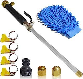 VNAKER Hydro Jet 高压电动清洗棒,适用于洗车或花园清洁,重型金属浇水喷雾器带通用软管端,水流喷头(黑色)