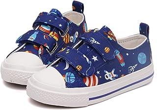 Toandon 可爱可调节肩带帆布运动鞋,适合幼儿和儿童