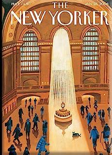 New Yorker 大*站硬冰箱磁铁,2 x 3.5 英寸