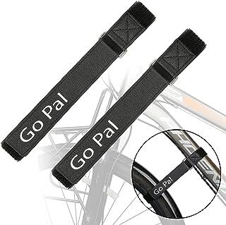 Go Pal 可调节自行车行李架带,可重复使用自行车车轮稳定带,更强抓地力,适用于山地自行车和公路自行车,2 件装