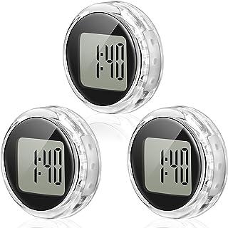 3 件迷你摩托车时钟防水粘附摩托车支架手表数字时钟适用于车辆、汽车、汽车、SUV 等