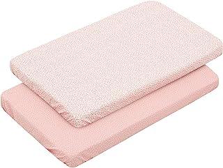 Cambrass 46120 2 Fitted Sheet-Samll床,50x82x1厘米,森林粉色,粉红色