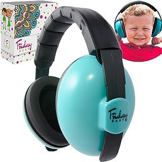 FridayBaby 婴儿耳朵保护宝宝 – 舒适可调节降噪耳机,适合婴儿、幼儿和婴儿使用 – 婴儿耳机降噪(0-2 岁以上)– *佳婴儿耳罩 蓝色 小号