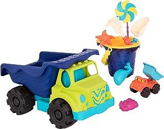 B. Toys – 完整巨型卡车和沙桶套装(10 件) – 玩具车、车辆和沙滩配件适合 18 个月以上儿童