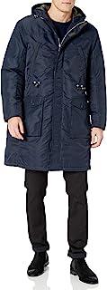 A X Armani Exchange 阿玛尼男式风衣带连帽衫和侧口袋