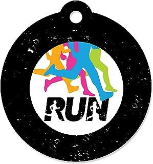 Big Dot of Happiness Set The Pace - 跑步 - 田径、越野或马拉松派对礼品标签(20 件套)