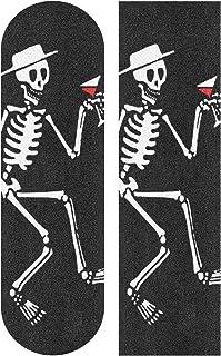 Skateboard Grip Tape 骷髅滑板车握把甲板砂纸长板贴纸 22.86 厘米 x 83.82 厘米