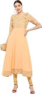 Janasya 女士桃红色涤纶绉纱衬衫