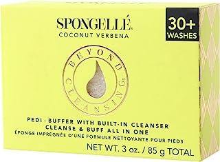 Spongellé Pedi-Buffer - 清洁、去角质和抛光脚 - 椰子马鞭草