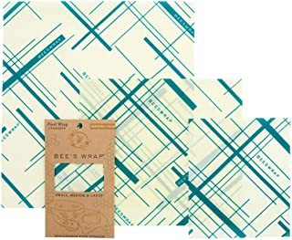 BEE'S WRAP 蜜蜂湿巾 3 件套(小,中号,大号) - 塑料薄膜环保替代品