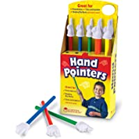Learning Resources LER2657学生手形指针(弹出式显示盒),一套十个,彩色