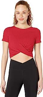 亚马逊品牌 - Core 10 女士 (XS-3X) 柔软比马棉弹力结前剪裁瑜伽 T 恤