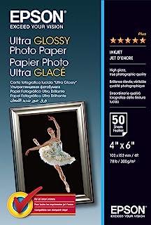Epson 爱普生 S041943 高光相纸 - 光面相纸 - 100 x 150 毫米 - 50 页