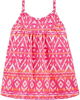 OshKosh B'Gosh Chevron 绒球装饰背心,4T 粉色