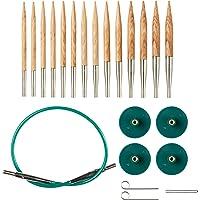 Knit Picks Options 2-3/4 英寸(约 6.5 厘米)短头可互换针织针套装(Sunstruck)