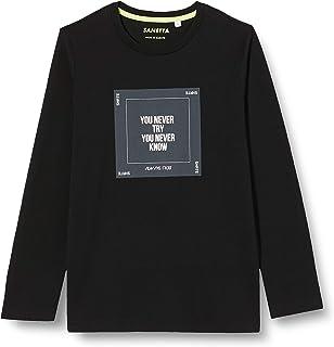Sanetta 男孩运动休闲衬衫黑色睡衣上衣