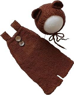 新生儿摄影道具服装男婴女孩拍照针织连衫裤