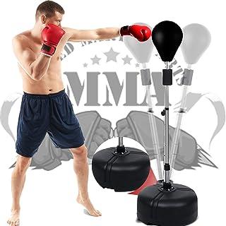 OppsDecor 带支架的拳击袋,反射袋独立式拳击速度袋,非常适合训练、*、锻炼