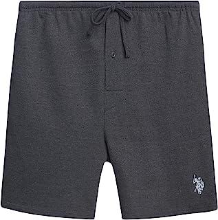 U.S. Polo Assn. 男式法式厚绒布睡衣休闲短裤,带侧口袋