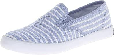 Polo Ralph Lauren Serena 儿童条纹平底鞋(小童/大童)