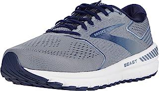 Brooks 男式 Beast '20 跑步鞋,蓝色/灰色/粗呢大衣,8.5 英国尺码