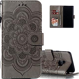 LEECOCO Samsung Galaxy S9 Plus 超薄 3D 豪华印花 PU 皮革钱包手机壳 LD: Gray
