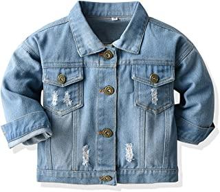 幼童男童女童牛仔夹克儿童牛仔夹克长袖纽扣上衣休闲外套