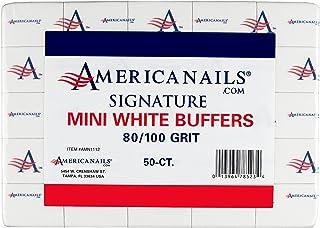 Americanails Signature 迷你白色缓冲剂 80/100 粒,50 粒