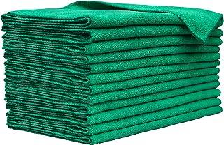 "TOPSEEDZ XL 超细纤维多用途清洁毛巾 12 件/包 (16"" x 27"") (三叶草绿,12)"