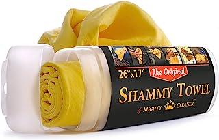 Mighty Cleaner Absorber Shammy Cloth Chamois 毛巾 - 汽车毛巾 - 合成鹿皮毛巾 - 汽车清洁布 - PVA 毛巾 - 汽车晾干毛巾 - *好的洗布 - 汽车擦拭布 - 汽车清洁布 大 Origin...