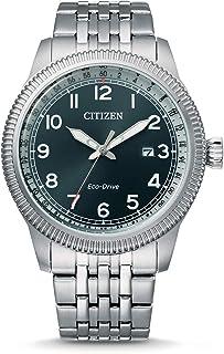 Citizen 西铁城 男士 指针 光动能手表 不锈钢表带 BM7480-81L