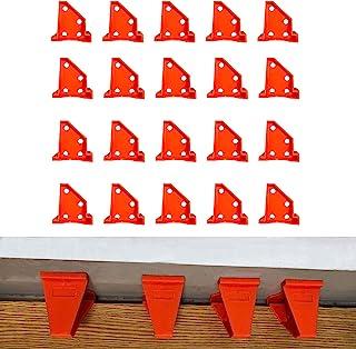 地板垫片适用于乙烯基板、硬木和浮动地板安装等。 层压木地板工具,双端不同,带 1/4 和 1/2 间隙,特殊三角形保持在原位(20 包)
