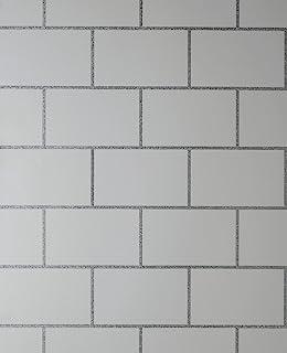 地铁瓷砖灰色/银色